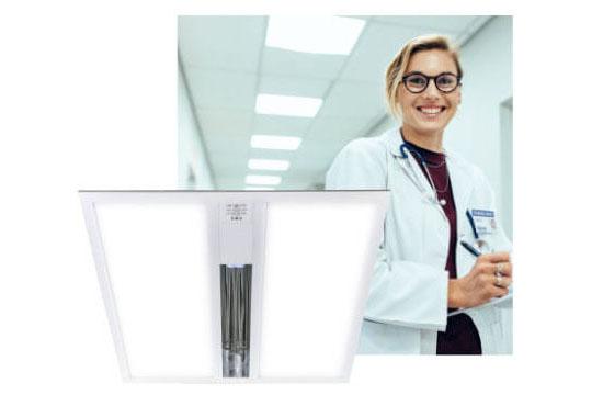 Oprawy oświetleniowe z funkcją wirusobójczą i bakteriobójczą